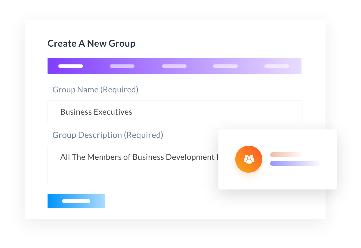 Create projects for group/department members
