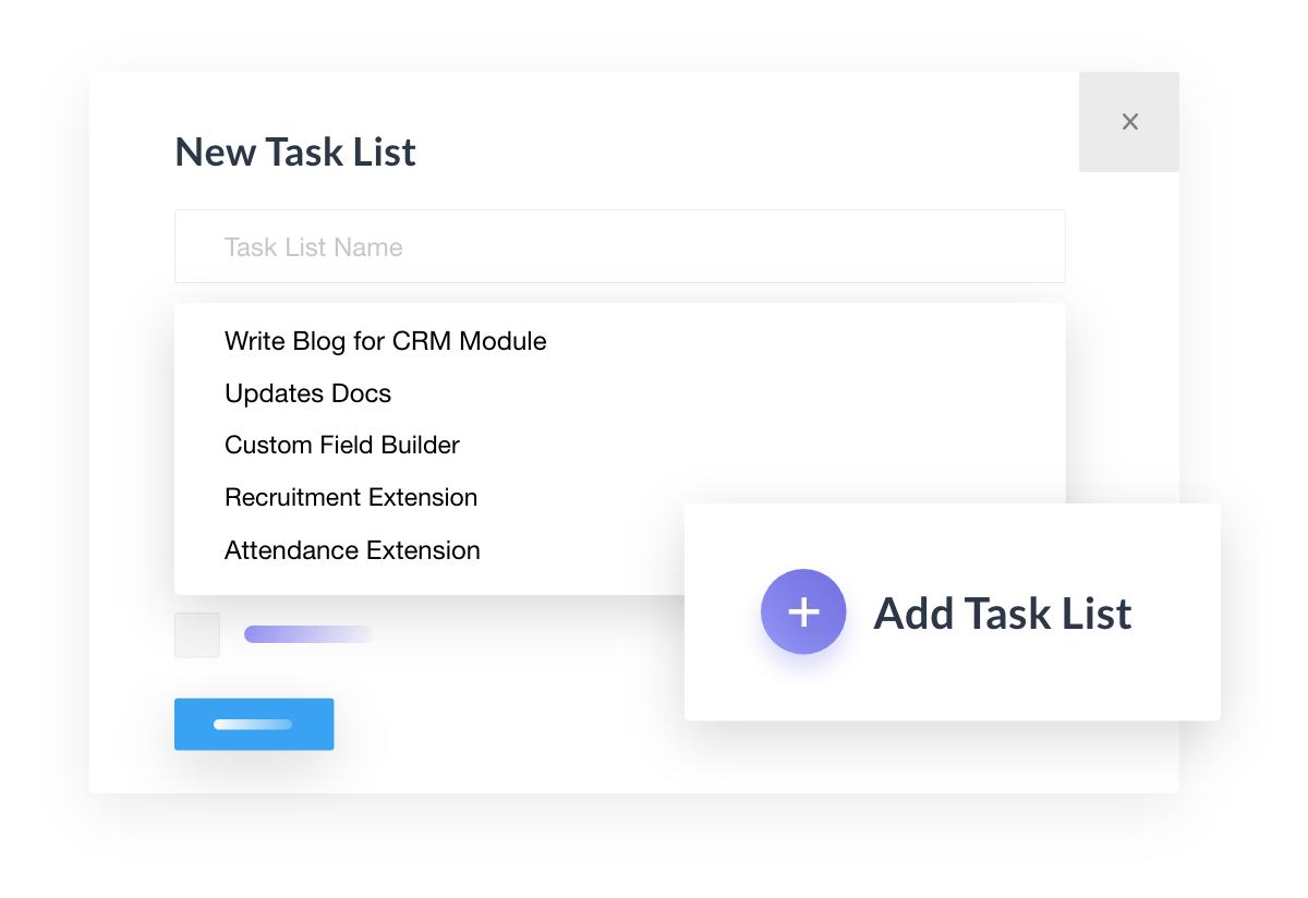 Create Tasks from other projects