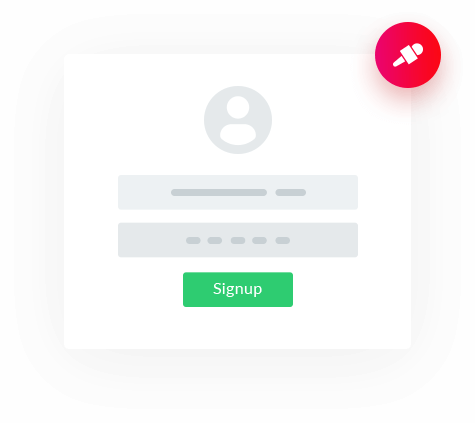 Keep Record <br>Of User Sign Ups