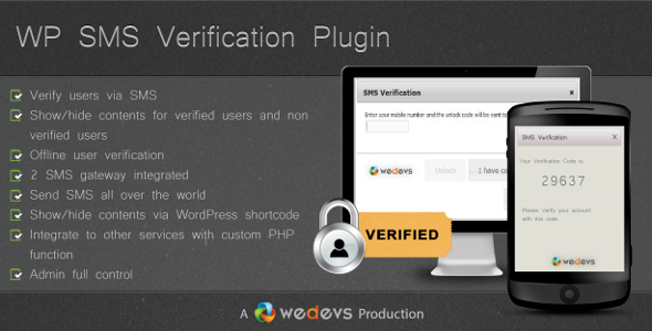 WP SMS Verification Plugin Released
