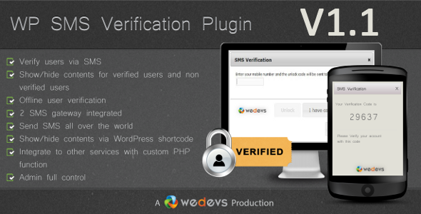 WP SMS Verification v1.1 released