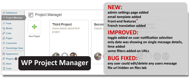 WordPress Project Manager Front-end with more