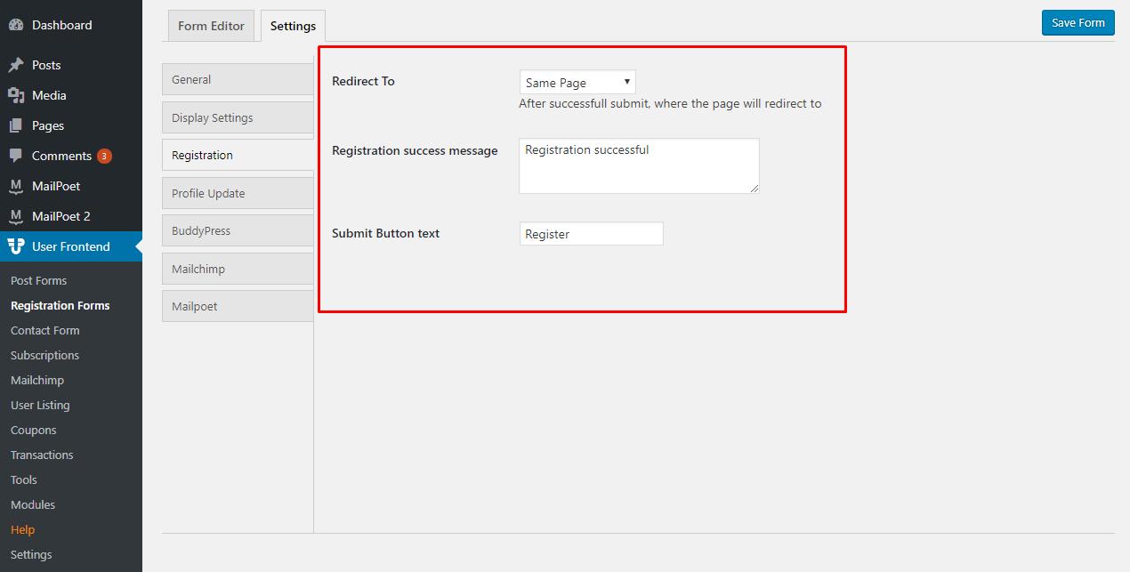 Creating registration forms wedevs altavistaventures Choice Image