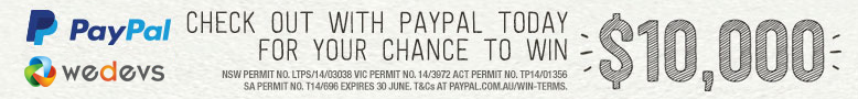 Checkout with paypal on wedevs today for your chance to win $10K AUD!