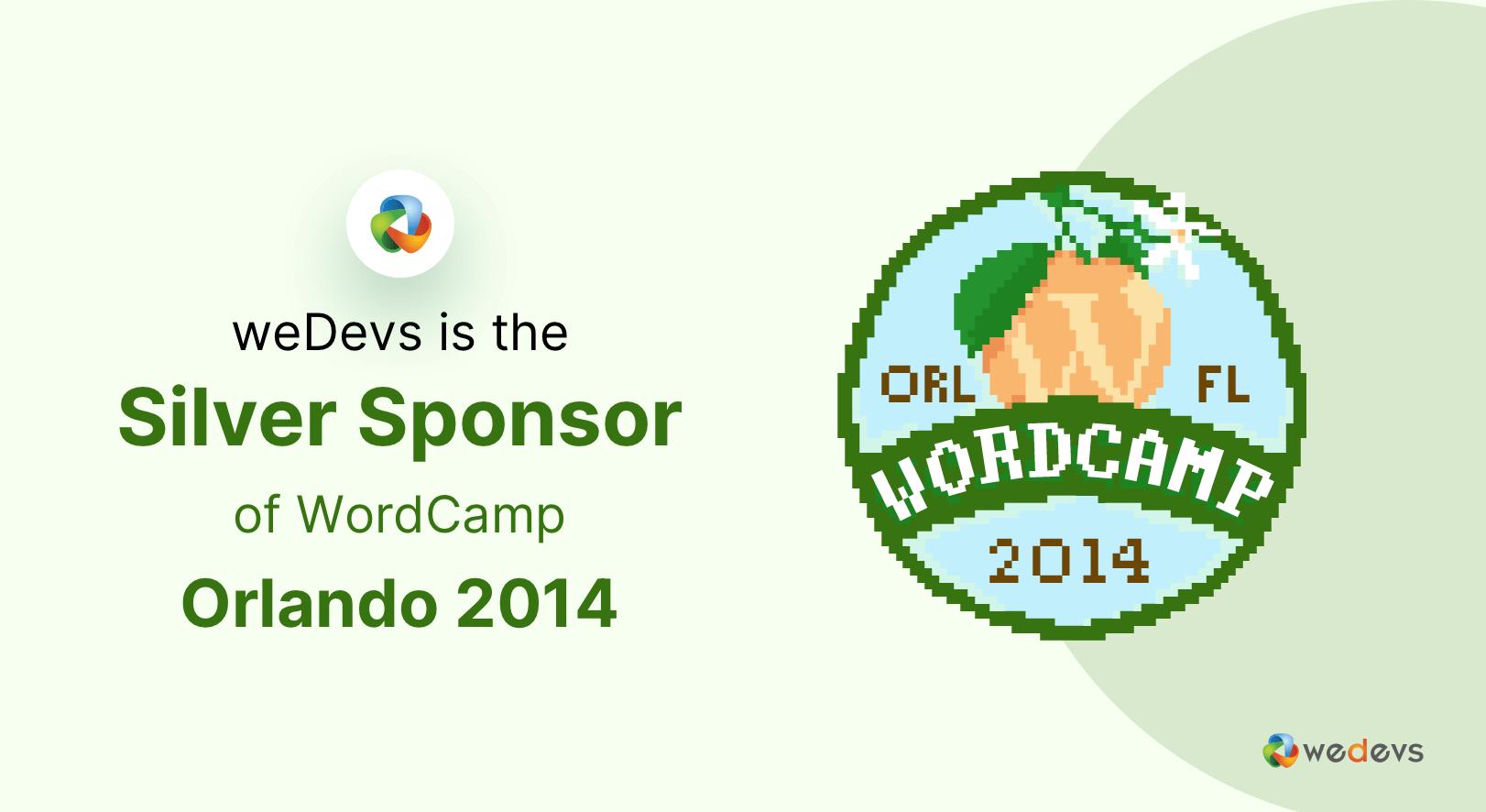 weDevs is the Silver Sponsor of WordCamp Orlando 2014