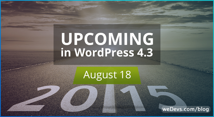A Brief Discussion: Upcoming Changes in WordPress 4.3
