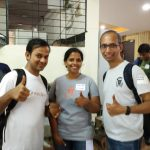 With the fellow organizer Sheeba and Nirav Mehta