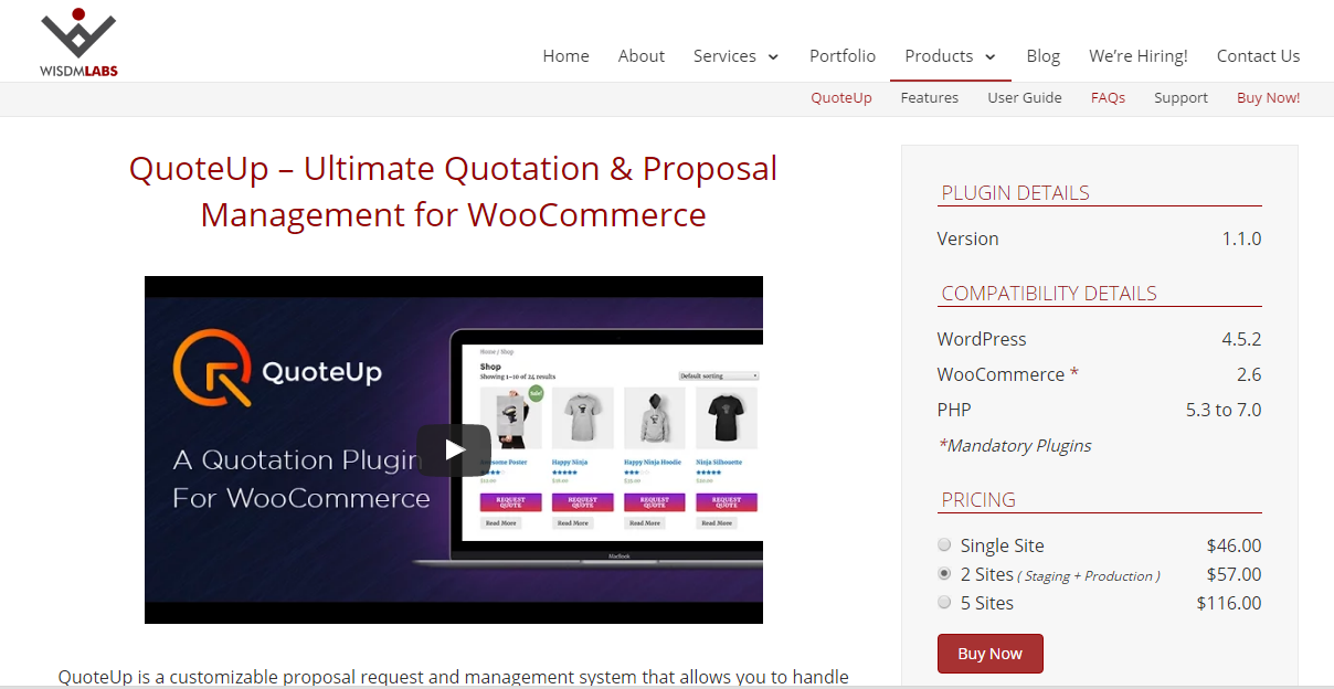 QuoteUp- The Ultimate WooCommerce Quotation Management Tool