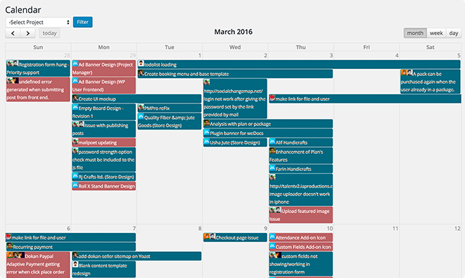 Birds Eye View with Calendar