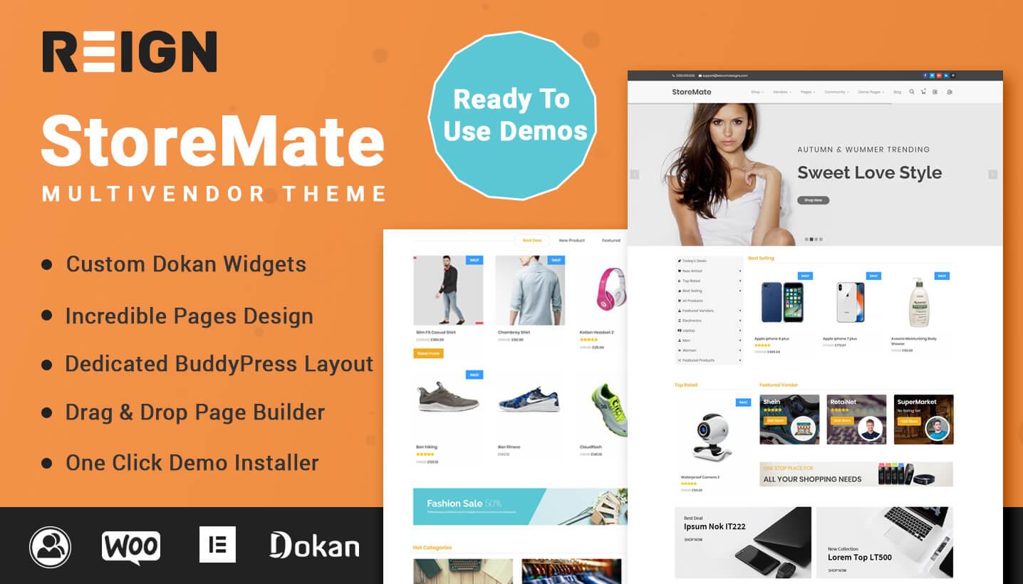 StoreMate Theme for Dokan
