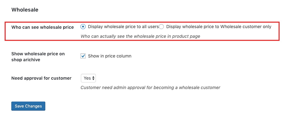 Display wholesale price to all users  When you enable this option 961feb19857b