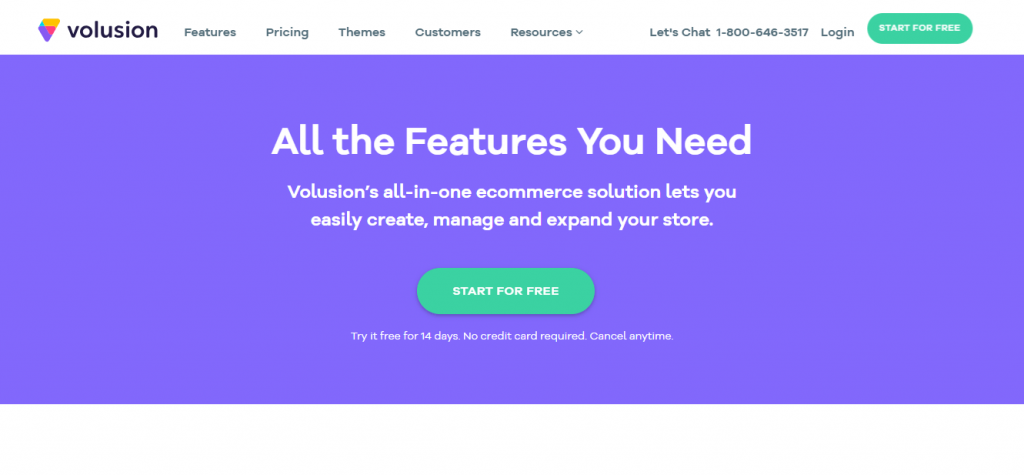 Volusion- best e-commerce platform