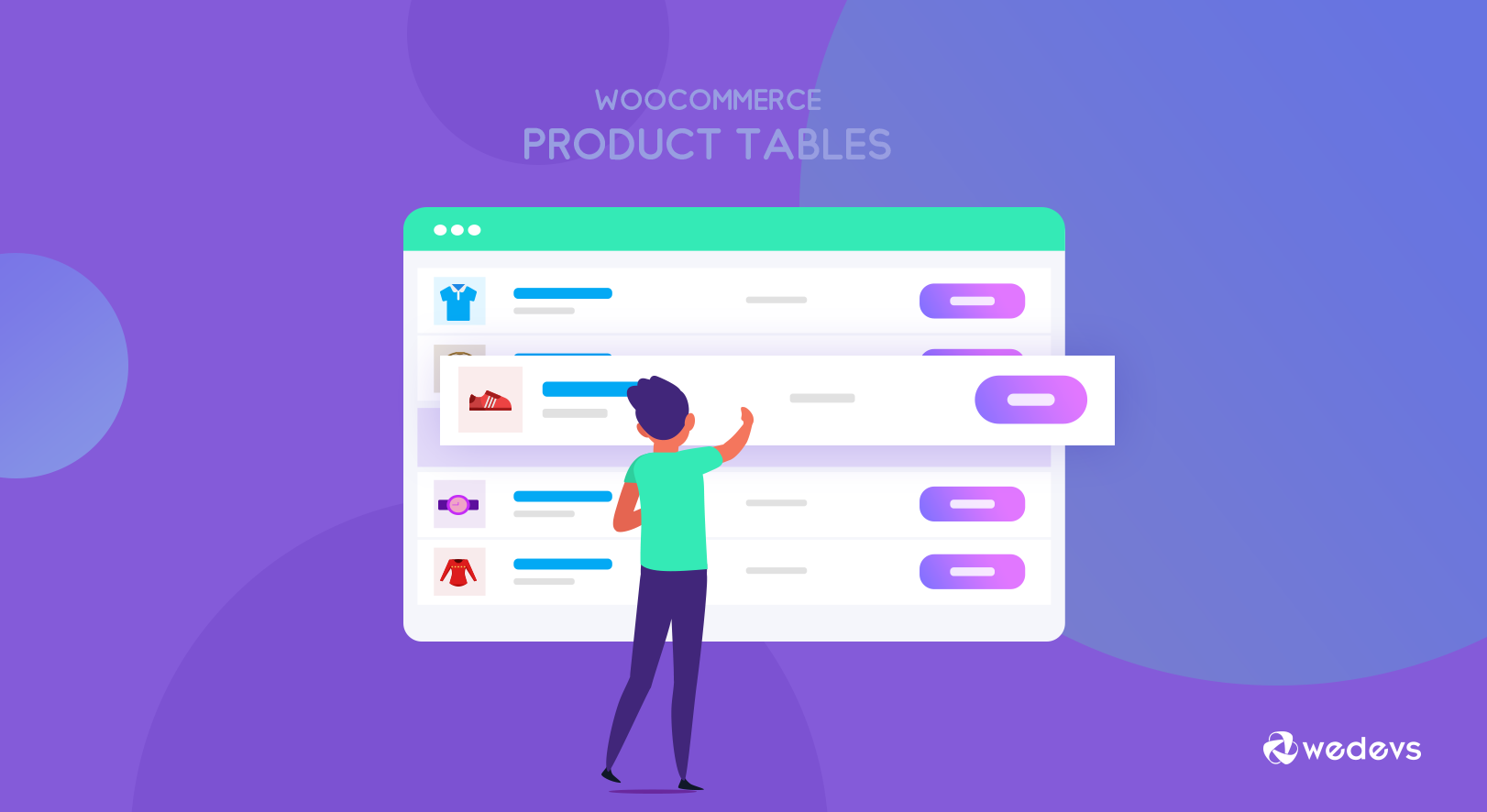 How to add WooCommerce product tables