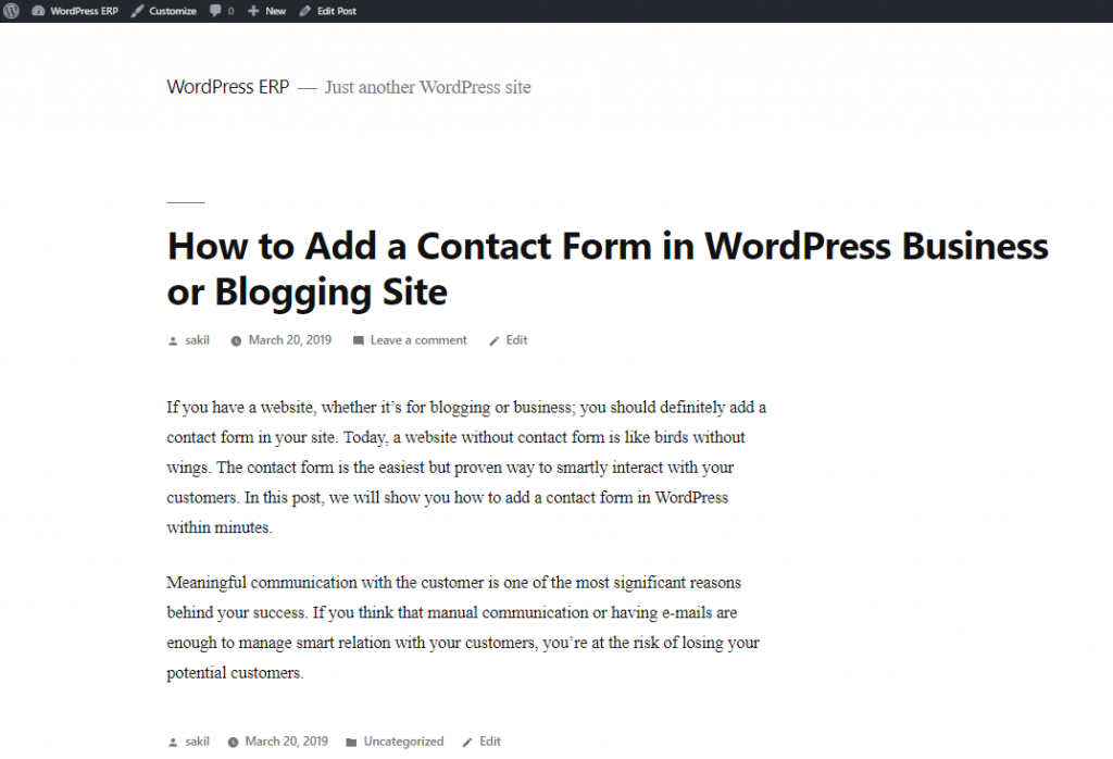 final output- How to Install WordPress on Localhost