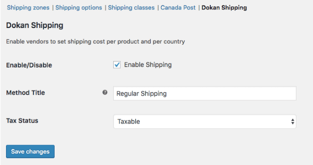 Regular Woocommerce shipping