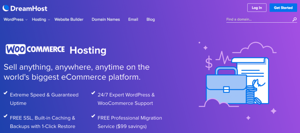Dreamhost WooCommerce hosting