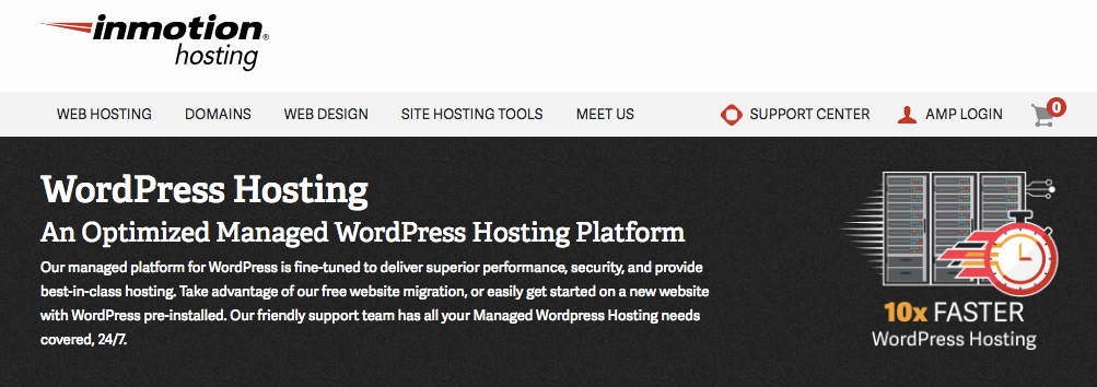 Inmotion WordPress hosting- wordpress hosting comparison