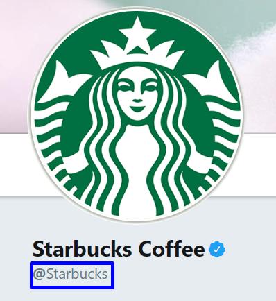 Starbucks Coffee Twitter account