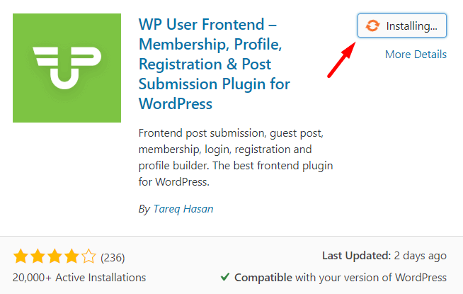 WPUF- Custom WordPress registration page
