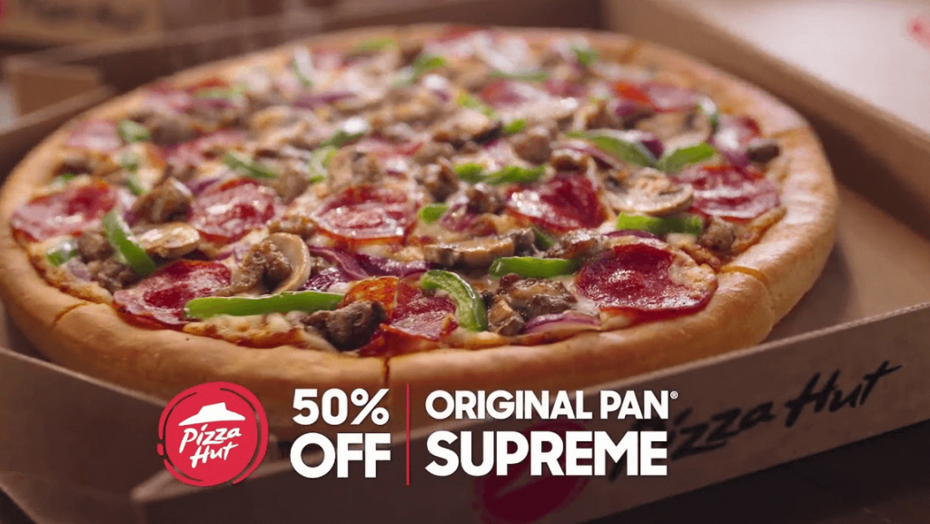 Retargeting campaign example- pizza hut