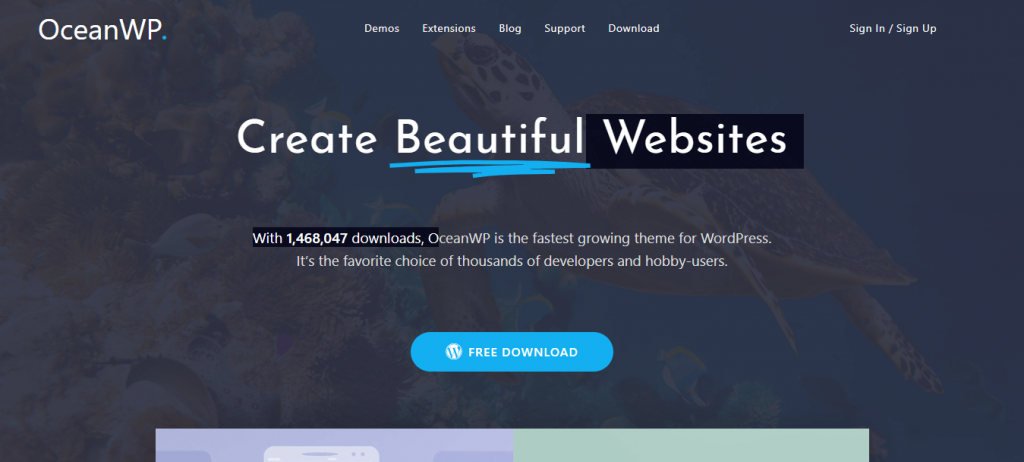 OceanWP with Elementor theme builder