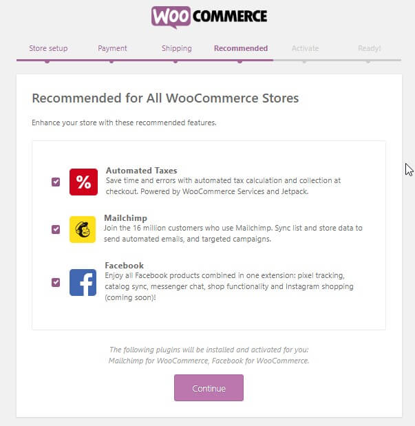 WooCommerce recommended plugin jetpack