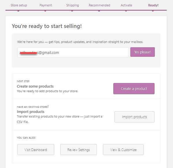 WooCommerce tutorial last step