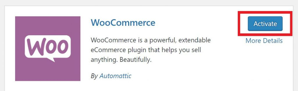 WooCommerce tutorial- Activate WooCommerce plugin