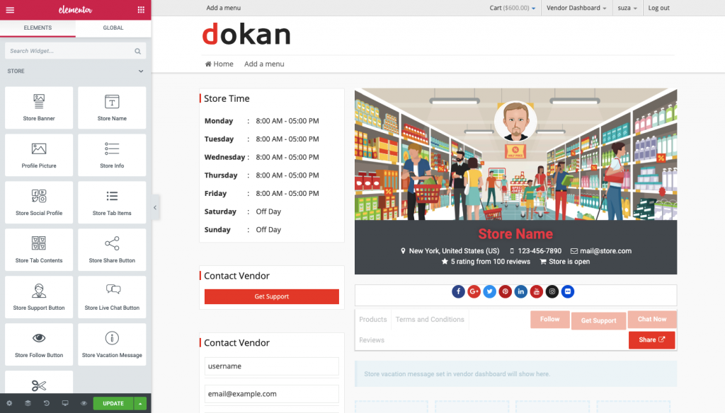 build an eCommerce marketplace with Dokan and Elementor