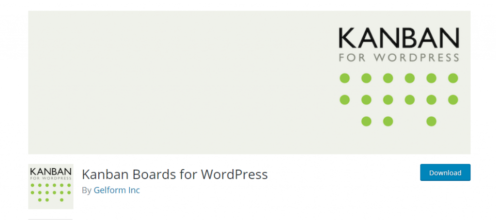Kanban boards for WordPress