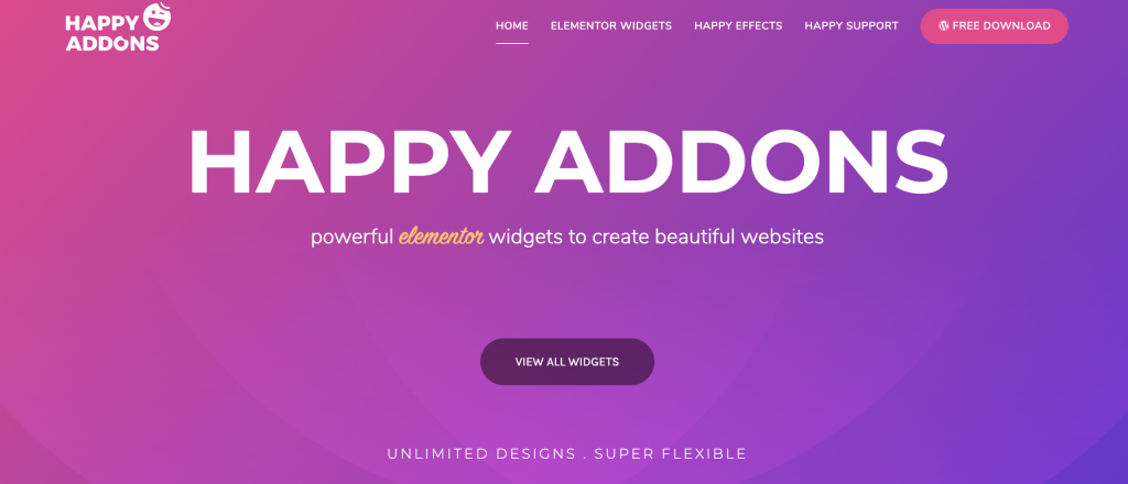 HappyAddons the powerful addons for Elementor WordPress Plugin