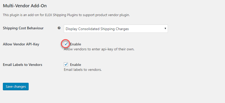 Allowing Vendor API on WooCommerce shipping