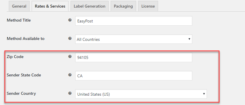 Zip code on WooCommerce shipping setting