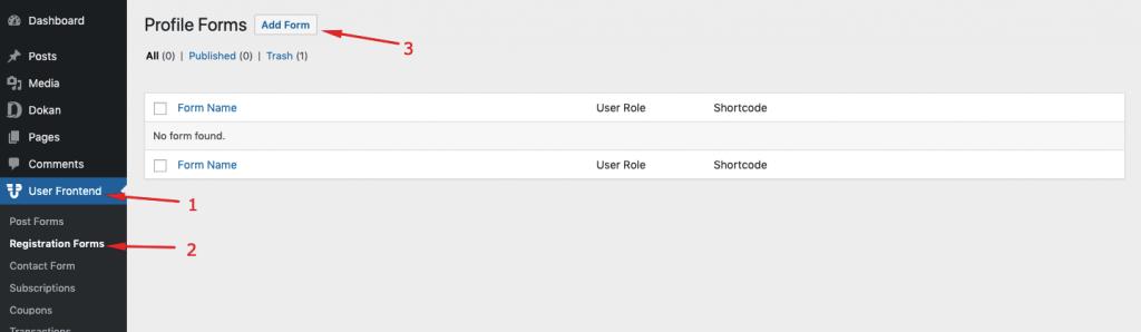 Installing WP User Frontend