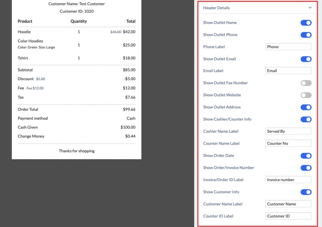 wePos managing receipts