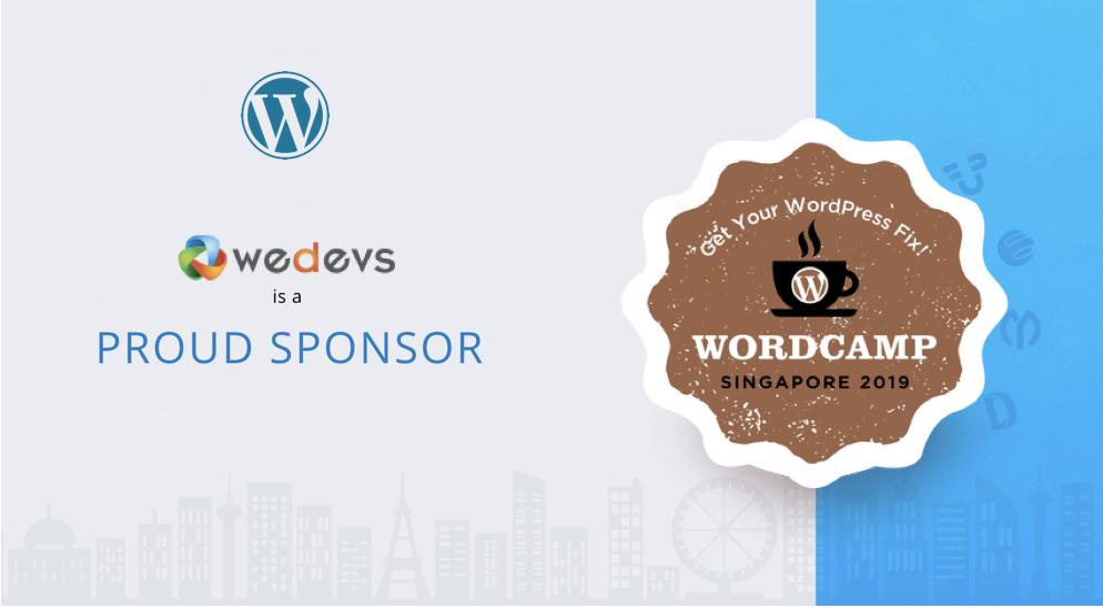 weDevs Sponsoring WordCamp Singapore 2019