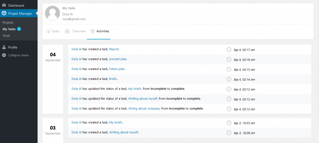 wp-project-manager-my-tasks-activities