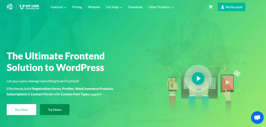 WordPress frontend solution plugin
