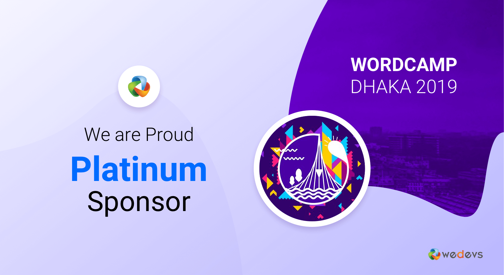 weDevs is the Proud Platinum Sponsor of WordCamp Dhaka 2019