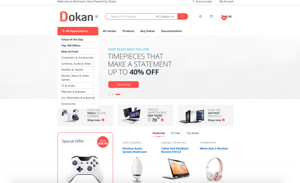 Multivendor marketplace with dokan