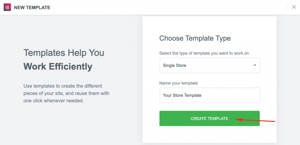 Installing Elementor template