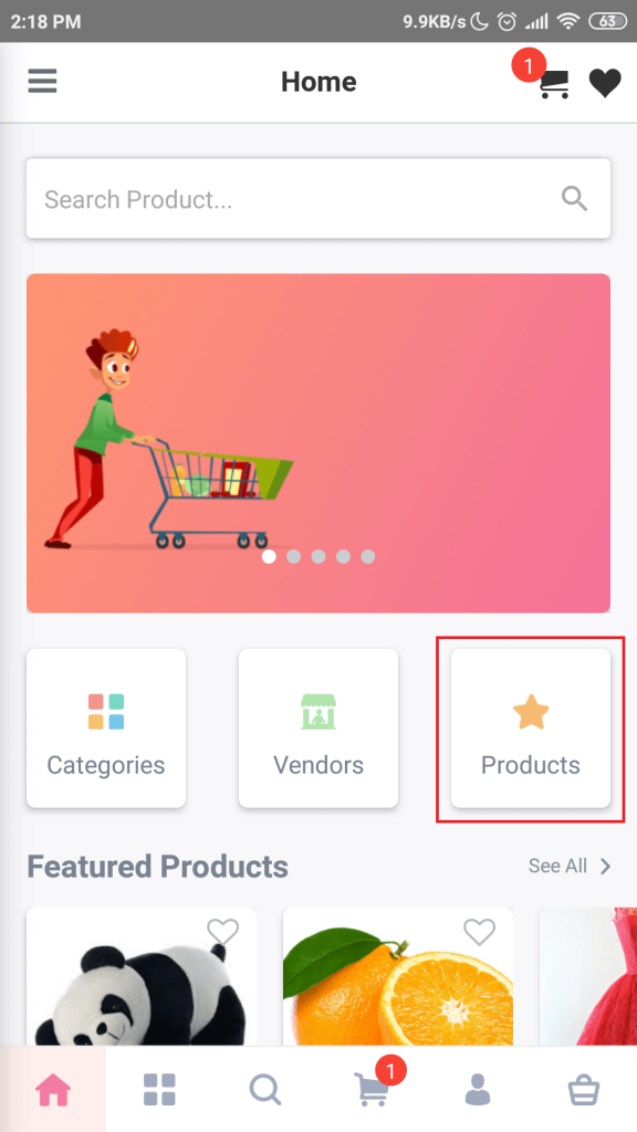 Product button