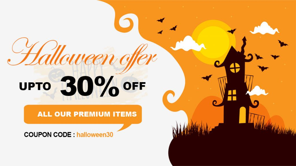 WordPress Halloween black Friday cyber Monday deals 2019