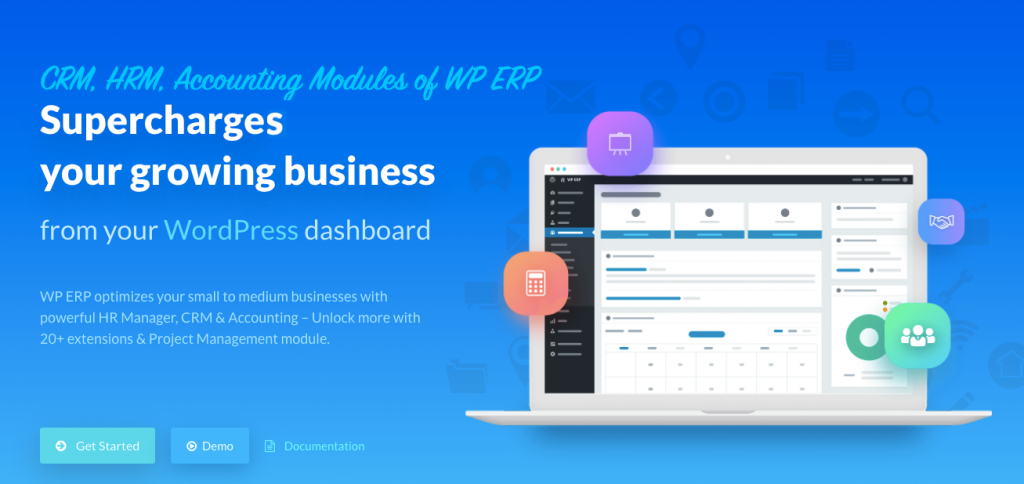 WP ERP HomePage- wordpress crm
