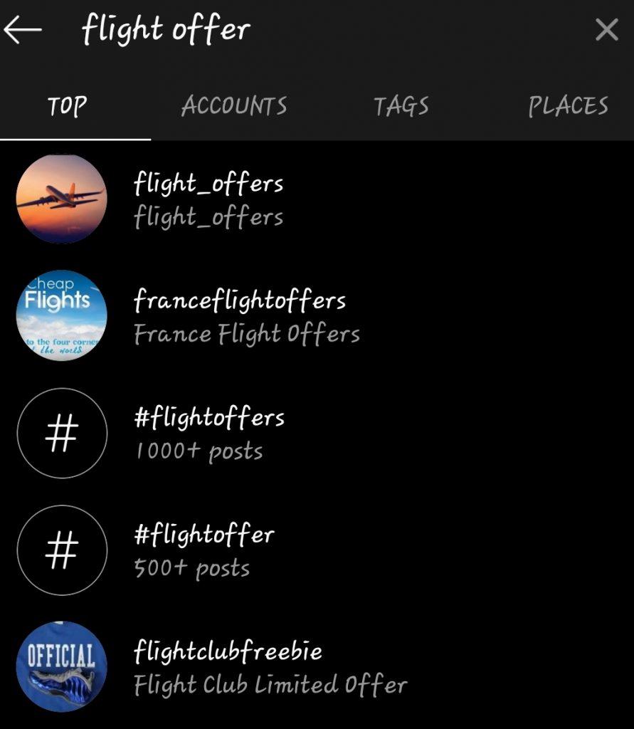 flight offer instagram WCT