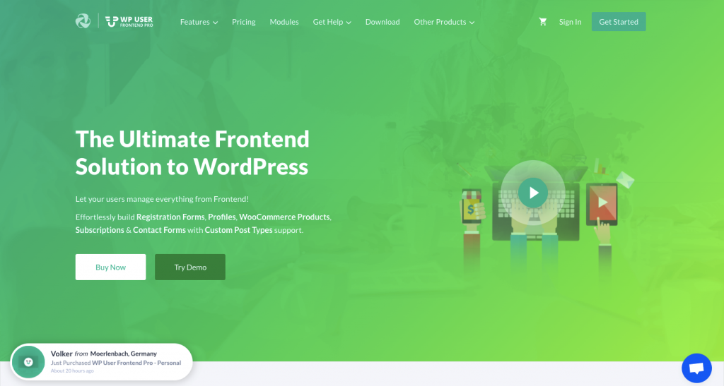 WP User Frontend - the best selling user frontend plugin for WordPress