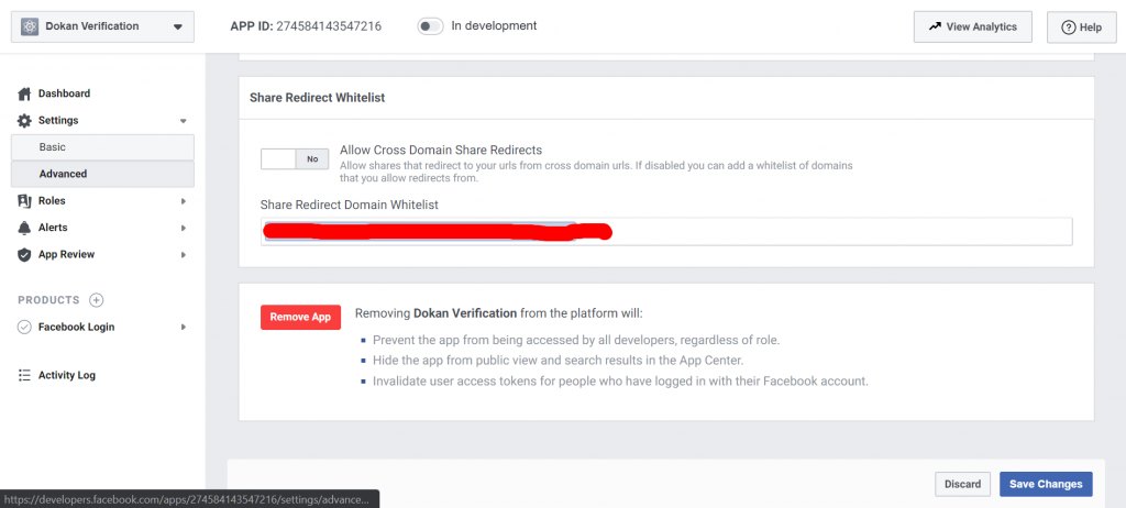 dokan-facebook-verification-app-settings-advanced