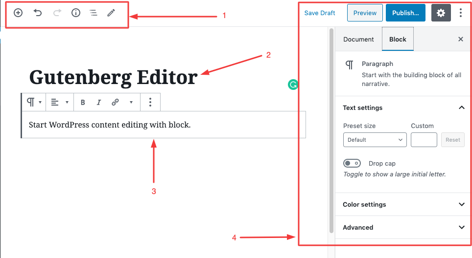 basic of wordpress content editor