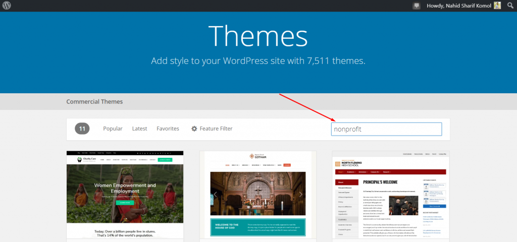 Choosing the right theme for WordPress