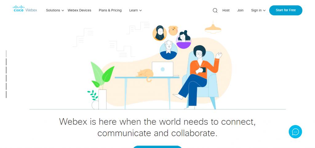 Cisco WebEx free online meeting tool